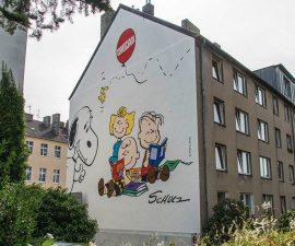 Peanuts Wandgemälde in Aachen Foto © Alexander Samsz