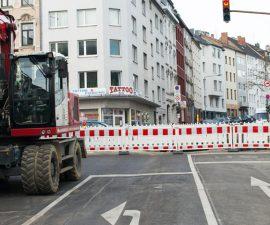 Baustelle and er Jülicher Straße – Foto © Alexander Samsz